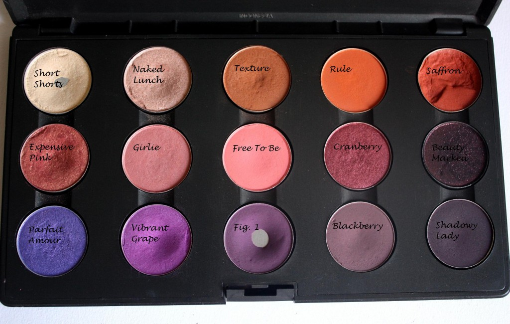 MAC Eyeshadow Palette Purples, Oranges & Reds